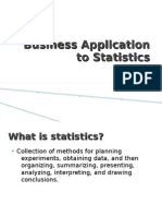 Business Application of Statistics