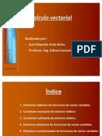 C. Vectorial Extremos, Máximos y Mínimos