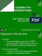 d Taxation Updates for Coops by Dean Estelita c. Aguirre