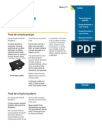 Estructura del Boletín