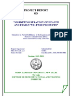 Health Marketing Strategy of Health and Family Welfare Products Iipm Thesis 102p