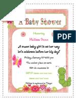 Baby Shower Invite Sample