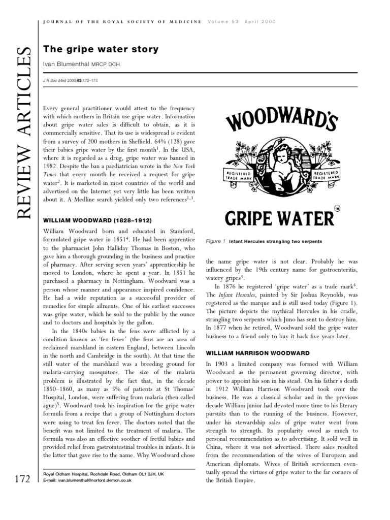 Gripe Water Medicine Wellness Woodwards