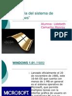 Historia Del Sistema de Windows Lidebeth Javii