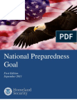 DHS National Preparedness Goal, September 2011
