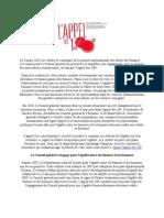 Appel Des 100 Essonne