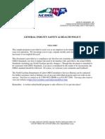 GeneralIndustryS&HPolicy