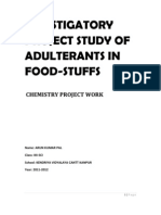 Investigatory Project Study of Adulterants in Food