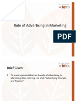 Role of Advertising in Marketing