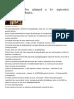 Carta de Carlos Alazraki a Los Aspirantes A