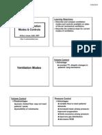 Modes of Ventilator