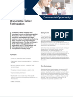 Dispersible Tablet Formulation