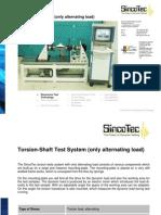 Drive Shaft Test System - Only Alternating Load