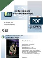 01 - Introduction à la modélisation objet