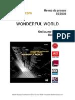 """Revue de presse de l'album """"Wonderful world"""" de Guillaume de Chassy et Daniel Yvinec (BEE008)"""