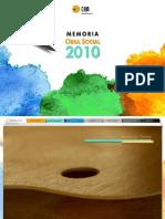 Memoria 2010. Obra Social. CAM