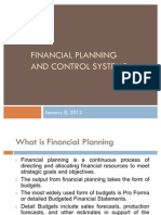 Financial Planning and Control Systems