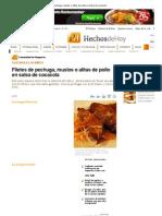 Filetes de Pechuga, Muslos o Alitas de Pollo en Salsa de Cocacola