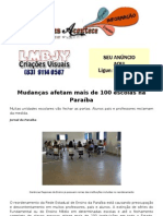 Mudanças afetam mais de 100 escolas na Paraíba