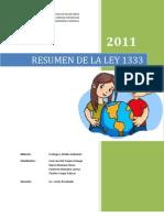 Resumen de La Ley 1333