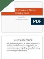 Successful Stories of Filipino Entrepreneurs