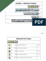 Audition Multi Track Tool Bars