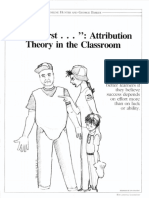 Attribution Theory in the Classroom by Hunter Barker 1987
