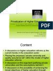 Privatization of Higher Education Dileepa
