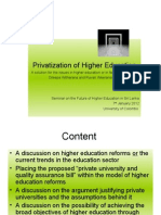 Privatization of Higher Education Dileepa