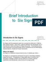 QMS-Six Sigma Introduction