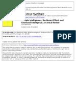 Multiple Intelligences The Mozart Effect, And Emotional Intelligence_Waterhouse 2006