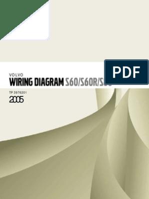 [DIAGRAM_34OR]  Volvo S60 S60R S80 Wiring Diagram | Airbag | Throttle | Volvo S60 Wiring Diagrams |  | Scribd