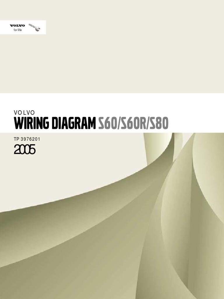Volvo S60 S60r S80 Wiring Diagram
