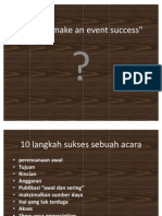 How to Make an Event Success Baru