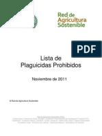 RAS Lista de Plaguicidas dos Noviembre 2011
