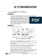 Pcm-tdm 't1' Implementation