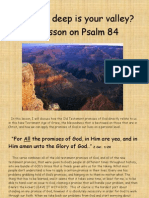 So,...How deep is your valley? A lesson on Psalm 84