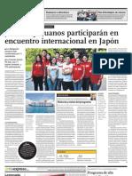 Jóvenes peruanos participarán en encuentro internacional en Japón