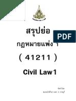 สรุปย่อ - กฎหมายแพ่ง 1 (ชมรมนศ.มสธ.ราชบุรี)