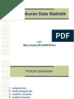 Pengukuran & Analisis Data Statistik