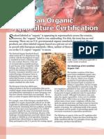 European Organic Aquaculture Certification