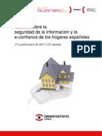 Estudio sobre la seguridad de la información y la e-confianza de los hogares españoles (2º cuatrimestre de 2011)