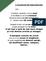 MARŞ DE ADIO  (COLEGILOR MEI MÂRLAMENTARI)   de Adrian Păunescu