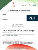Pre Inscription tour D'algerie
