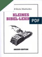 Matthießen, Dr. Wilhelm - Kleines Bibel-Lexikon, Verlag für ganzheitliche Forschung, Bohlinger, Ludendorffs Verlag, Ludendorff