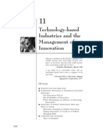 Technology Based Industries and the Management of Innovation