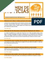 Resumen de Noticias REDCAPLIMA 09.01