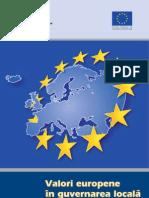 Valori Europene in Guvernarea Locala - Raport