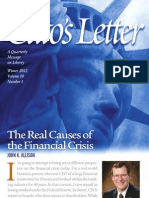 The Real Causes of the Financial Crisis, Cato Cato's Letter No. 1