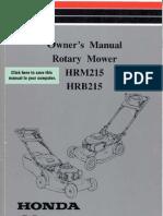 Honda Mower Manual